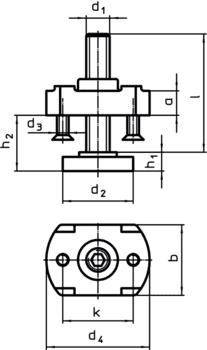 Podpora przedłużająca do łap dociskowych prostych regulowanych z elementem kontrującym IM0002504 Zeichnung