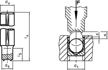 Stemple do osadzania do korka uszczelniającego Expander<sup>®</sup> IM0002549 Zeichnung