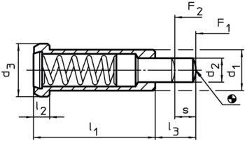Elementy dociskowe sprężynujące wersja gładka IM0003502 Zeichnung