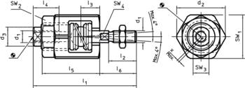 Szybkozłącza wtykowe z wyrównaniem przesunięcia kątowego i osiowego  IM0000858 Zeichnung pl