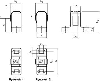 Boczne elementy dociskowe sprężynujące z blaszką stalową sprężynującą IM0002902 Zeichnung pl
