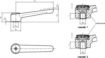 Regulowane płaskie dźwignie zaciskowe Stal nierdzewna  IM0009680 Zeichnung pl