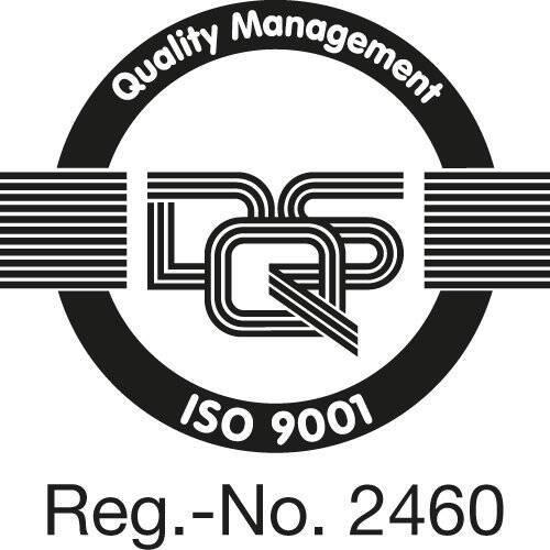 Certifikat enligt DIN EN ISO 9001